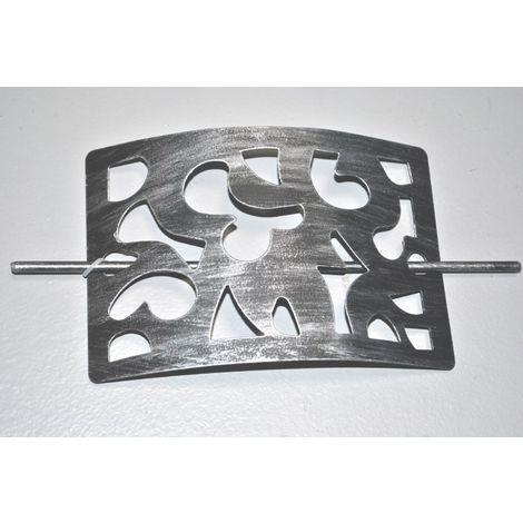 Embrasse métal rectangle Noir Argent