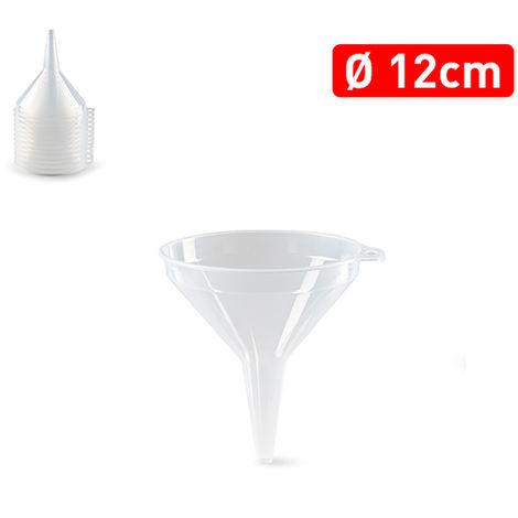 Embudo Plastico 12 Cm. Transparente