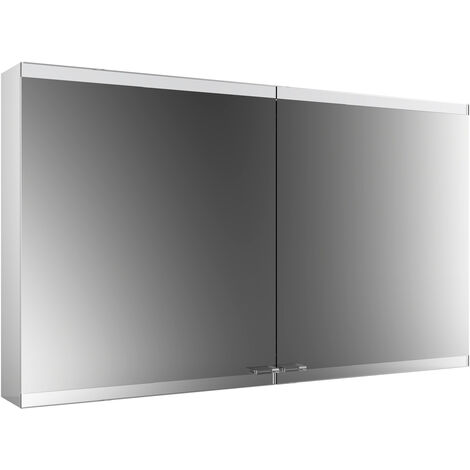 Emco asis evo Mirror light cabinet, surface-mounted model, 2 doors, 1200 mm, execution: without light system, without mirror heating - 939708106