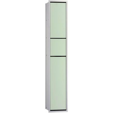 Emco asis module 150 Gäste-WC-Modul-Unterputzmodell, Müllbeutelhalter, Papierhalter, Toilettenbürstengarnitur, Farbe: chrom/optiwhite - 976027870
