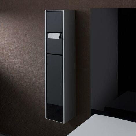 Emco asis module 150 WC-Modul-Aufputzmodell, Feuchtepapierbox, Papierhalter, Toilettenbürstengarnitur, Farbe: aluminium/schwarz - 975127550