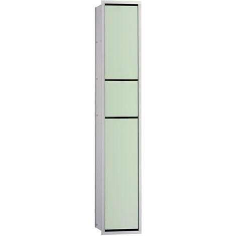 Emco asis module 150 WC-Modul-Unterputzmodell, Papierhalterbox, Toilettenbürstengarnitur, Farbe: chrom/optiwhite - 976027864