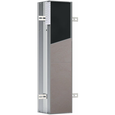 Emco asis module plus, module WC - modèle encastré, avec compartiment pour papier hygiénique et brosse à WC intégrée, charnière de porte à droite - 975611007