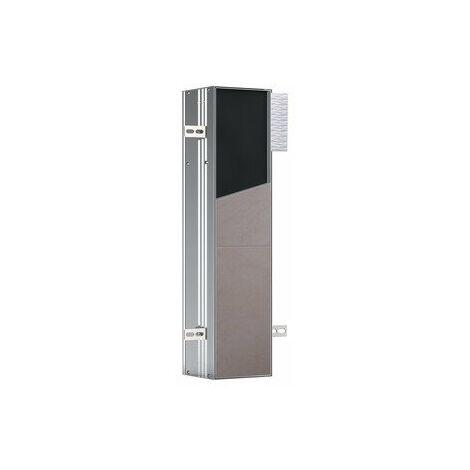 Emco asis module plus, module WC - modèle encastré, avec compartiment pour papier hygiénique et brosse à WC intégrée, charnière de porte à gauche - 975611006