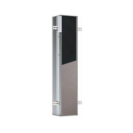Emco asis module plus, module WC - modèle encastré, avec compartiments pour rouleau de rechange ou boîte en papier humide, papier WC et porte WC intégrée, charnière de porte droite - 975611001