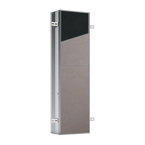 Emco asis module plus, module WC - modèle encastré, avec une tablette en verre, une tablette métallique, prise de courant, contacteur de porte et éclairage LED, charnière de porte gauche/droite interchangeable - 975611008