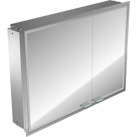 Emco asis prestige illuminated mirror cabinet, flush-mounted model, wide door left, 915mm, execution: without Bluetooth - 989706049