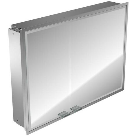 Emco asis prestige illuminated mirror cabinet, flush-mounted model, wide door right, 915mm, execution: with Bluetooth - 989705068