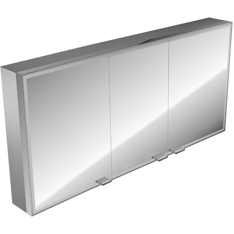Emco asis prestige illuminated mirror cabinet, surface mounted model, 1587mm, execution: without Bluetooth - 989706026