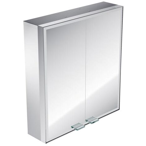 Emco asis prestige illuminated mirror cabinet, surface mounted model, 587mm, execution: without Bluetooth - 989706011