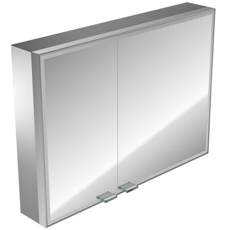 Emco asis prestige illuminated mirror cabinet, surface mounted model, wide door right, 787mm, execution: with Bluetooth - 989705063