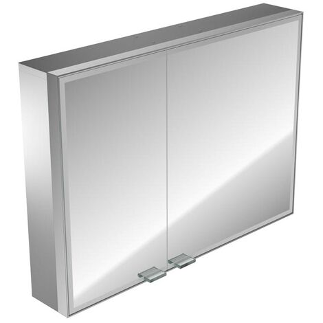 Emco asis prestige illuminated mirror cabinet, surface mounted model, wide door right, 887mm, execution: without Bluetooth - 989706013