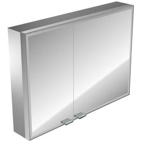 Emco asis prestige illuminated mirror cabinet, surface mounted model, wide door right, 987mm, execution: without Bluetooth - 989706021