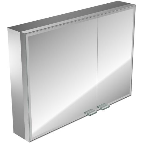Emco asis prestige light mirror cabinet, surface mounted model, wide door left, 987mm, execution: with Bluetooth - 989705073