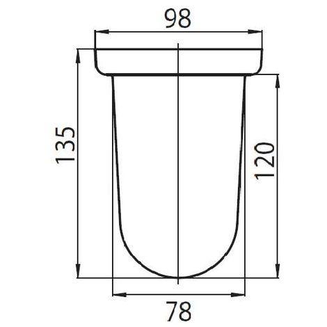 EMCO Bürstenglas für Serien logo, contour, linea, system 01, rondo, scala, classic, rondo2, logo2
