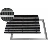 EMCO Eingangsmatte DIPLOMAT 22mm Bürsten schwarz mit ALU Rahmen Fußmatte Türmatte Abstreifer