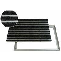 EMCO Eingangsmatte DIPLOMAT Rips anthrazit 22mm mit ALU Rahmen Fußmatte Türmatte Abstreifer
