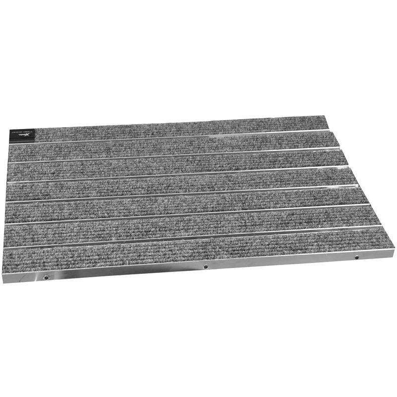 EMCO Eingangsmatte SENATOR Rips 22mm anthrazit ALU Rahmen Fu/ßmatte T/ürmatte Schuhabstreifer Gr/ö/ße:750 x 500 mm