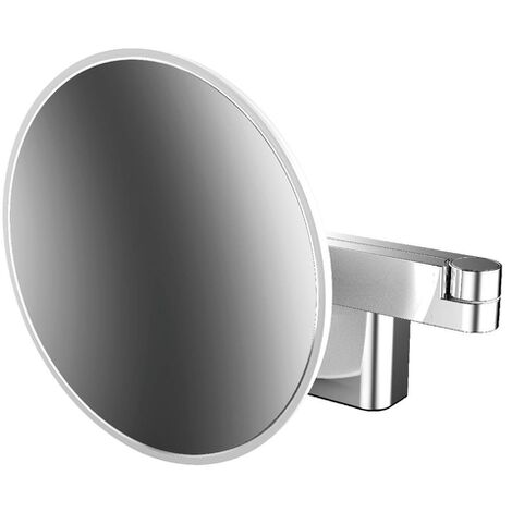 Emco LED shaving and cosmetic mirror, wall model, double articulated arm, magnification 3-fold, round - 109506031