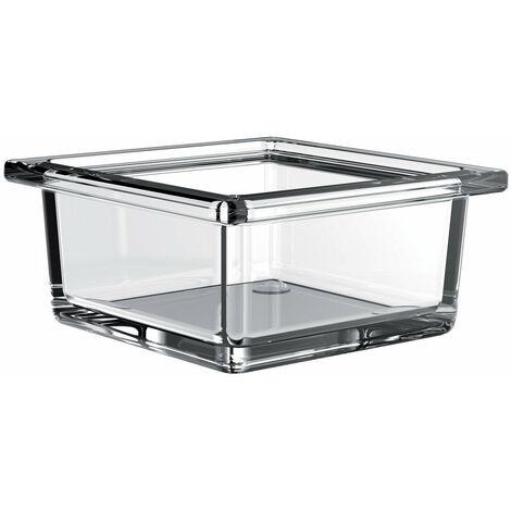 Emco liaison Cuvette carrée en verre pour garde-corps, verre cristal clair, plat - 186600000