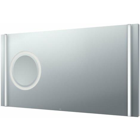 Emco light mirror select, LED light mirror select, 1200 x 610 mm avec miroir de rasage et de maquillage à LED intégré - 449600090