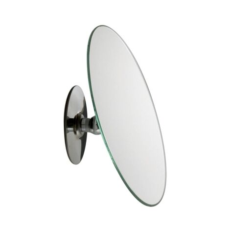 Emco shaving and cosmetic mirror, magnification: 5x, round, diameter 150 mm, non-illuminated, can be glued on, angle adjustment - 109400104