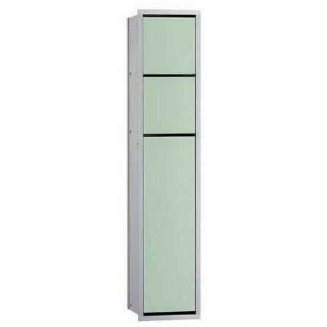 EMCO WC-Modul WC-Modul ASIS 150 Unterputz, 809 mm chrom/optiwhite