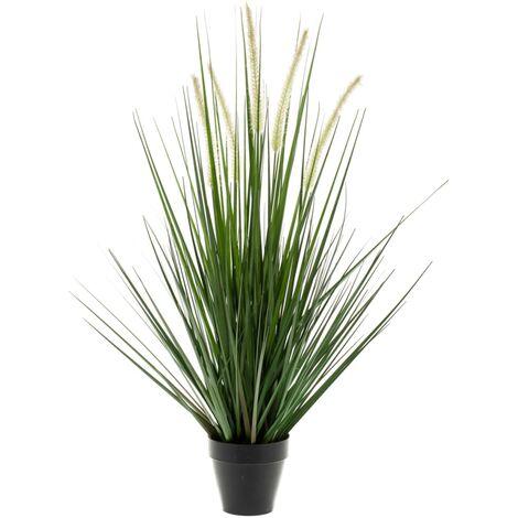 Emeral Planta hierba artificial alopecurus verde 120 cm 418166