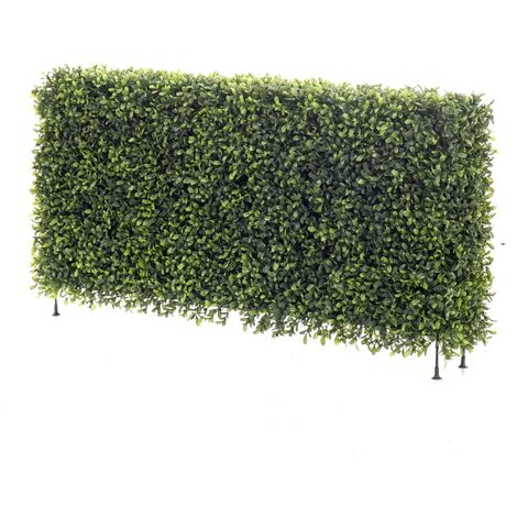 """main image of """"Emerald Artificial Boxwood Fence 100x20x25 cm - Green"""""""