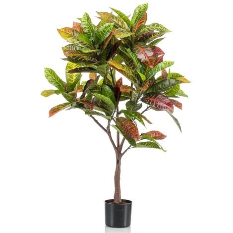 Emerald Artificial Croton Tree with Pot 100 cm