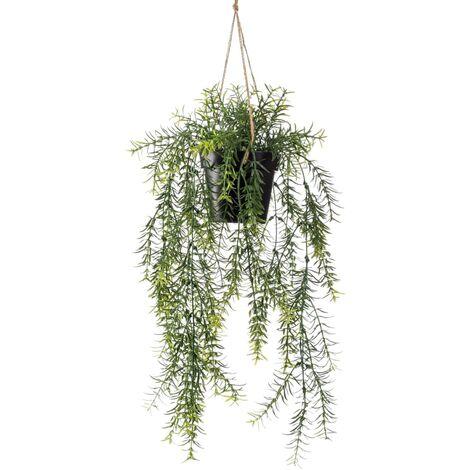 Emerald Buisson suspendu d'asperge artificiel 50 cm en pot