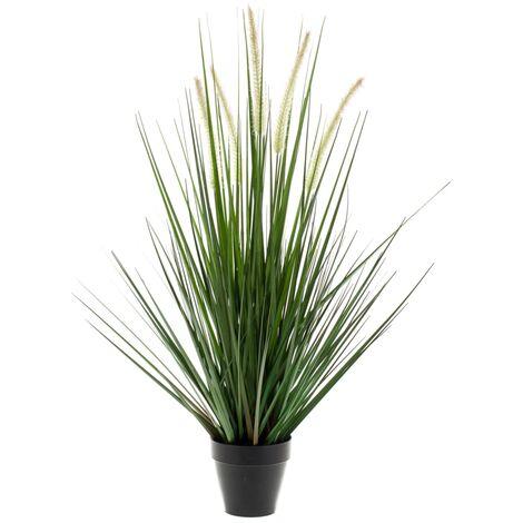 "main image of ""Emerald Herbe artificielle Alopecurus avec pot 70 cm"""