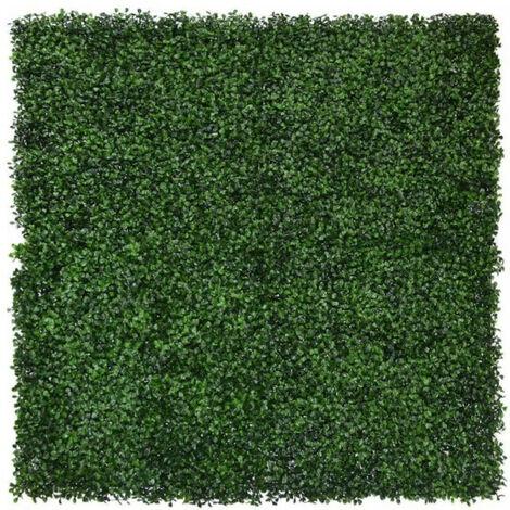 Emerald Hierba artificial estera de boj 4 piezas verde 50x50 cm 417980 - Verde