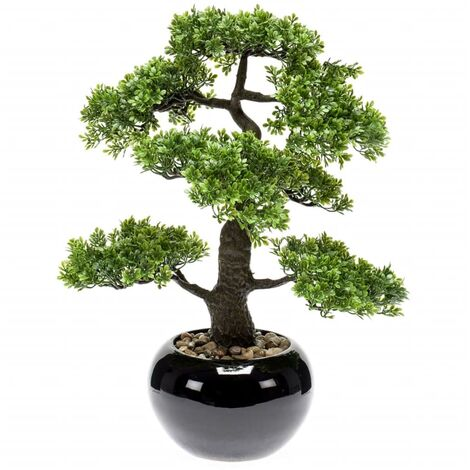Emerald Mini bonsai artificial Ficus verde 47 cm 420006