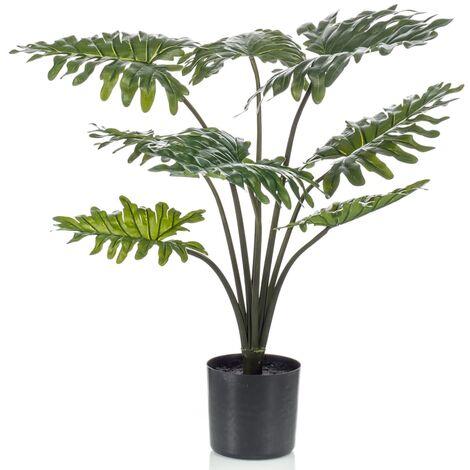 Emerald Planta artificial Philodendron con macetero 60 cm