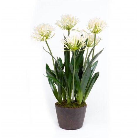 Emerald Planta de agapanto artificial 75 cm crema
