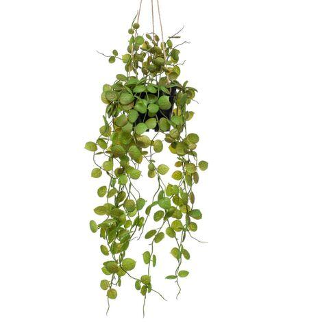 Emerald Plante artificielle suspendue Ceropegia 50 cm en pot