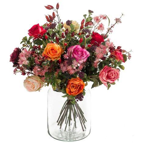 Emerald Ramo de flores artificiales Flame Roses