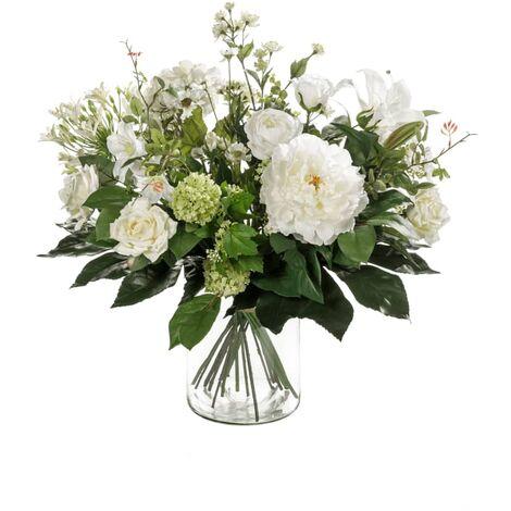 Emerald Ramo de flores artificiales White Dream