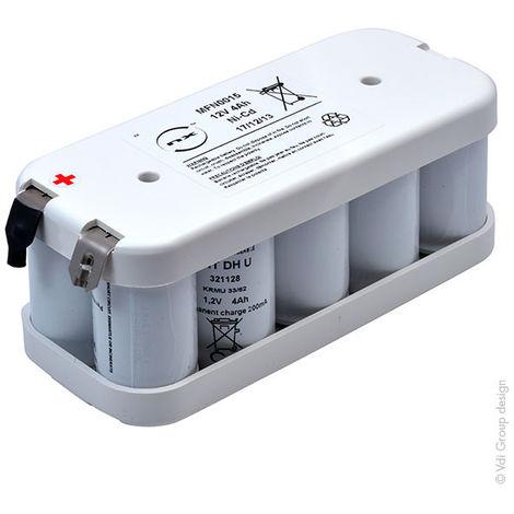 Emergency lighting battery 10x D VNTD 10S1P ST2 Terminals 12V 4Ah Cosse