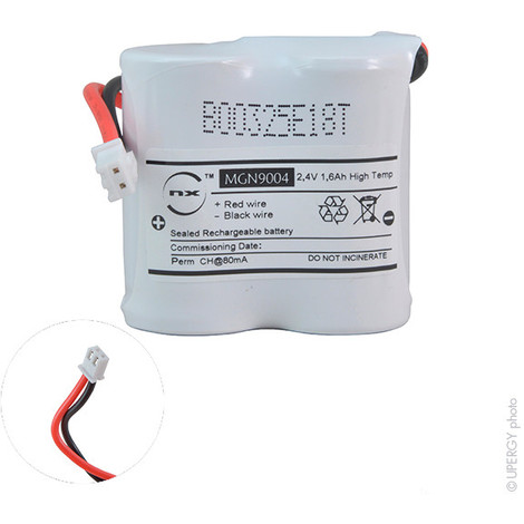 Emergency lighting battery 2xSC ST1 JST 2.4V 1.6Ah