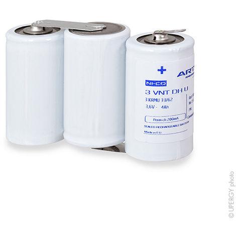 Emergency lighting battery 3 VNT DH U parallel 3.6V 4Ah