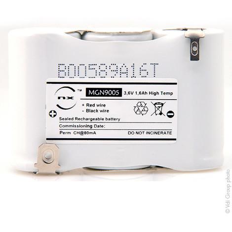 Emergency lighting battery 3xSC ST1 Faston 6.3mm+2.8mm 3.6V 1.6Ah
