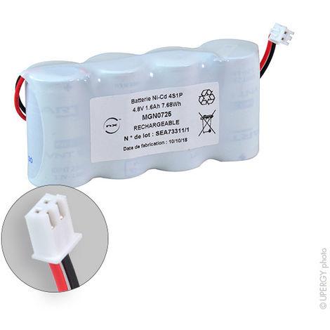 Emergency lighting battery 4x SC VNT 4S1P ST1 4.8V 1.6Ah JST