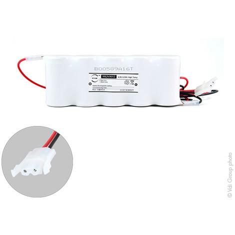 Emergency lighting battery 5xD ST1 + AMP 6V 4Ah