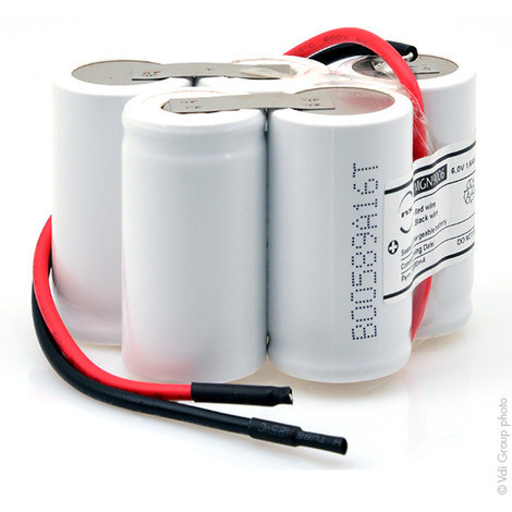 Emergency lighting battery 5xSC ST1 wire 6V 1.6Ah
