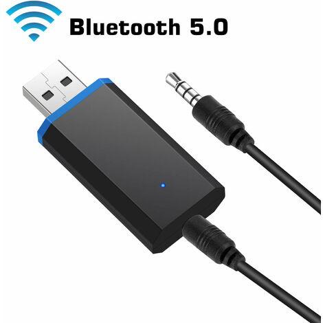 Émetteur Bluetooth pour TV, adaptateur audio sans fil Bluetooth 5.0 émetteur adaptateur sans fil 3,5 mm pour casque PC TV ordinateur portable et plus