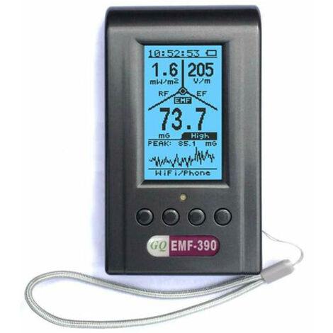 EMF390 Detecteur de rayonnement electromagnetique trois-en-un portable professionnel a haute et basse frequence avec batterie et cable USB