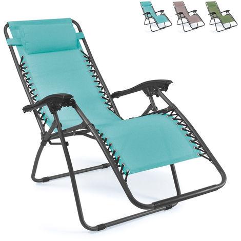 EMILY multi-position folding beach and garden deck chair Zero Gravity