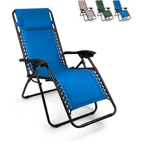 EMILY PUMP multi-position folding beach and garden deck chair Zero Gravity